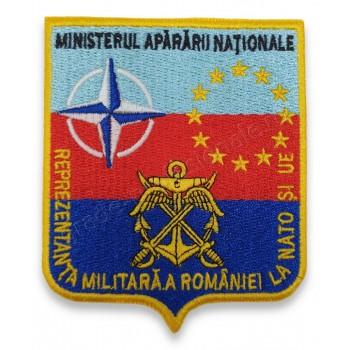 Emblema pentru Reprezentanta militara a Romaniei la NATO si UE