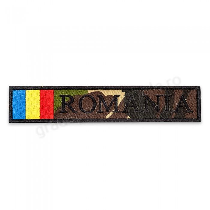 Ecuson Romania cu Drapel - camuflaj