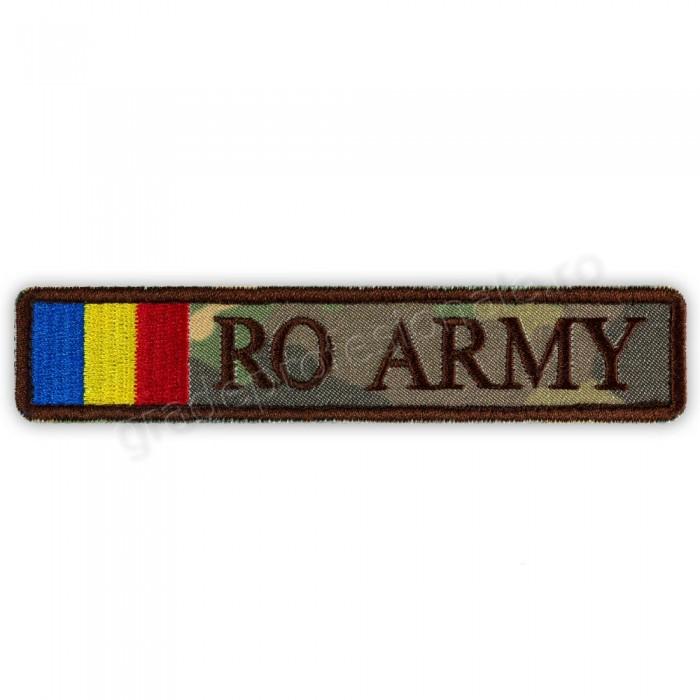 Ecuson RO ARMY cu Drapel combat forte terestre