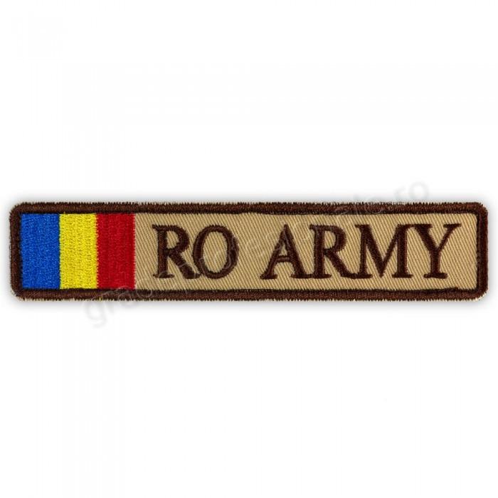 Ecuson RO ARMY cu Drapel bej forte terestre