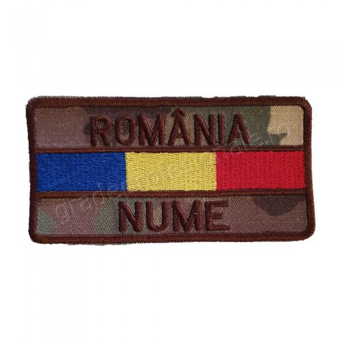 Ecuson nominal cu ROMANIA si drapel