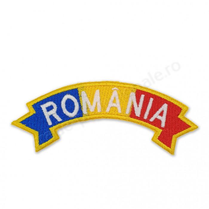 "Ecuson drapel ""ROMANIA"" panglica"