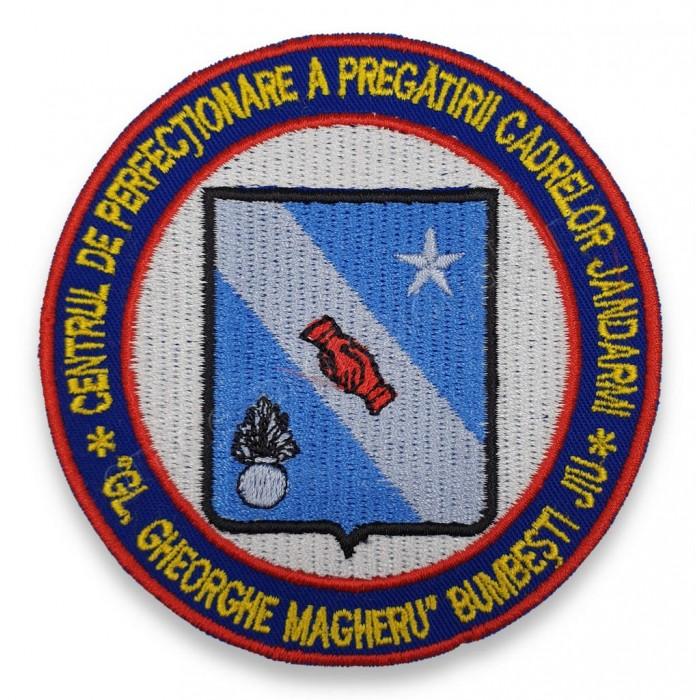 """Emblema Centrul de Perfectionare a Pregatirii Cadrelor Jandarmi """"Gl. Gheorghe Magheru"""" Bumbesti Jiu"""