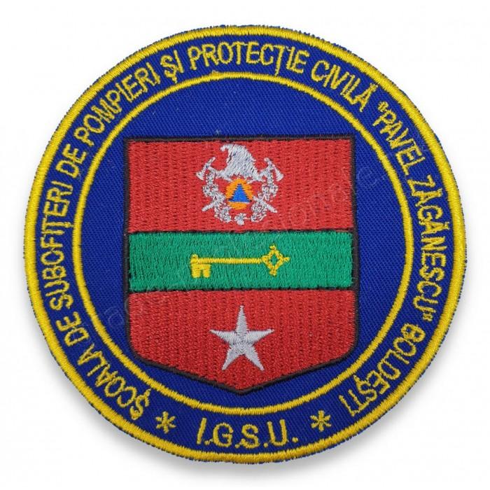 """Emblema Scoala de Subofiteri de Pompieri si Protectie Civila """"Pavel Zaganescu"""" Boldesti"""