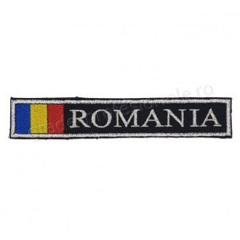 Ecuson Romania cu Drapel fir metalizat
