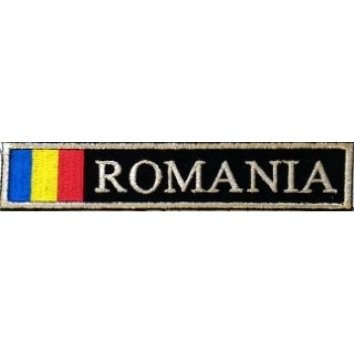 Ecuson Romania cu Drapel , fir metalic